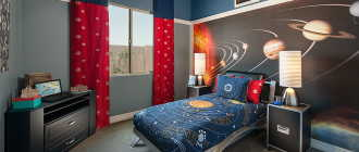 Шторы в детскую комнату для мальчика: выбор цвета и ткани для интерьера