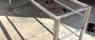 Этапы создания оригинального стола из профильной трубы своими руками