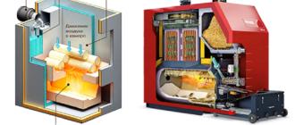 Схема отопления с твердотопливным котлом и теплоаккумулятором