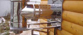 Стальной дымоход для твердотопливного котла