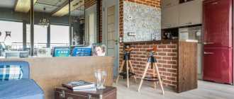 Студия лофт: дизайн и интерьер маленькой квартиры в стиле loft с фото