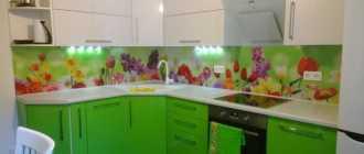 Фартук для кухни из МДФ с фотопечатью: фото дизайна